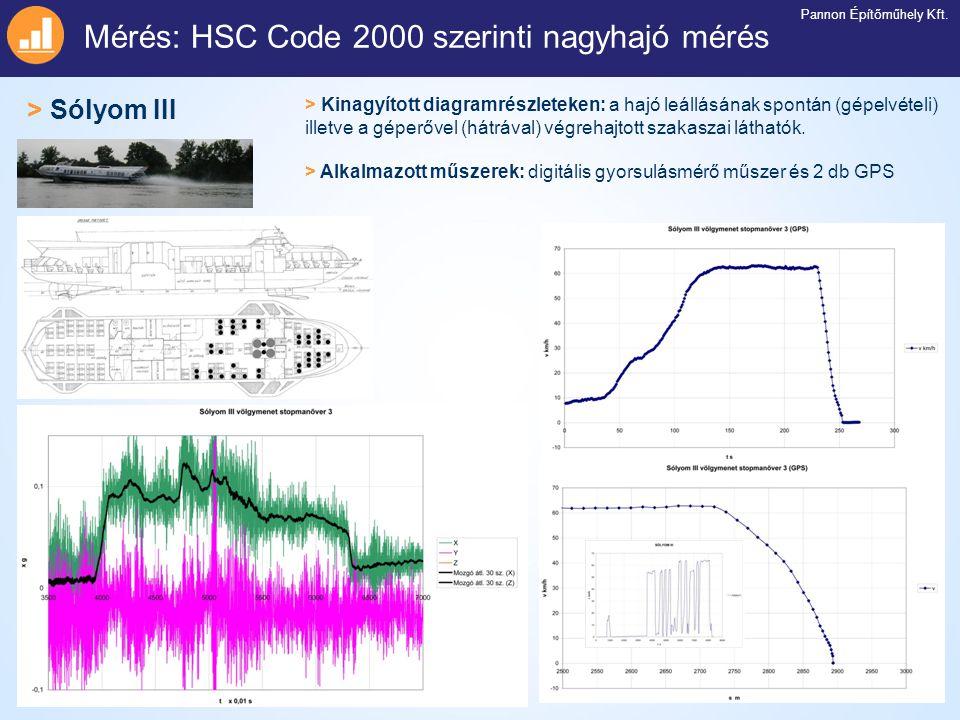 Mérés: HSC Code 2000 szerinti nagyhajó mérés
