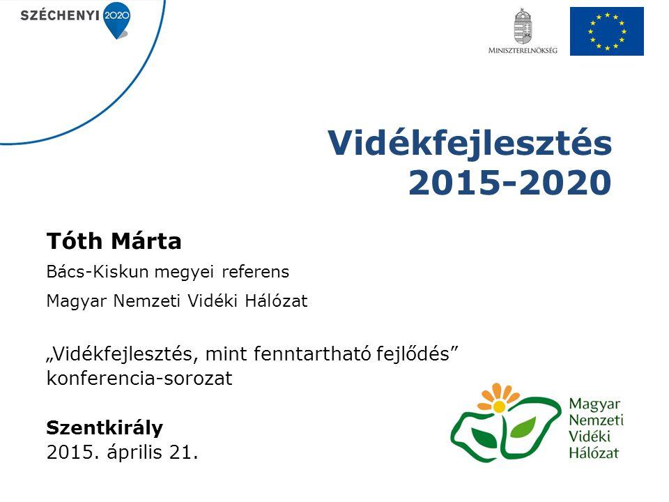 Vidékfejlesztés 2015-2020 Tóth Márta