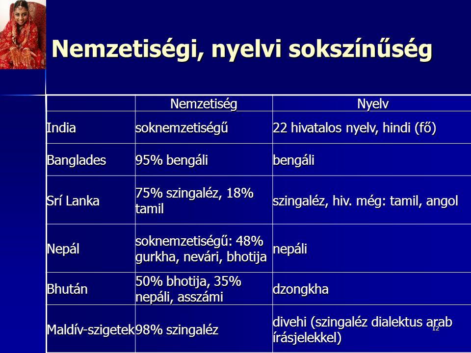 Nemzetiségi, nyelvi sokszínűség