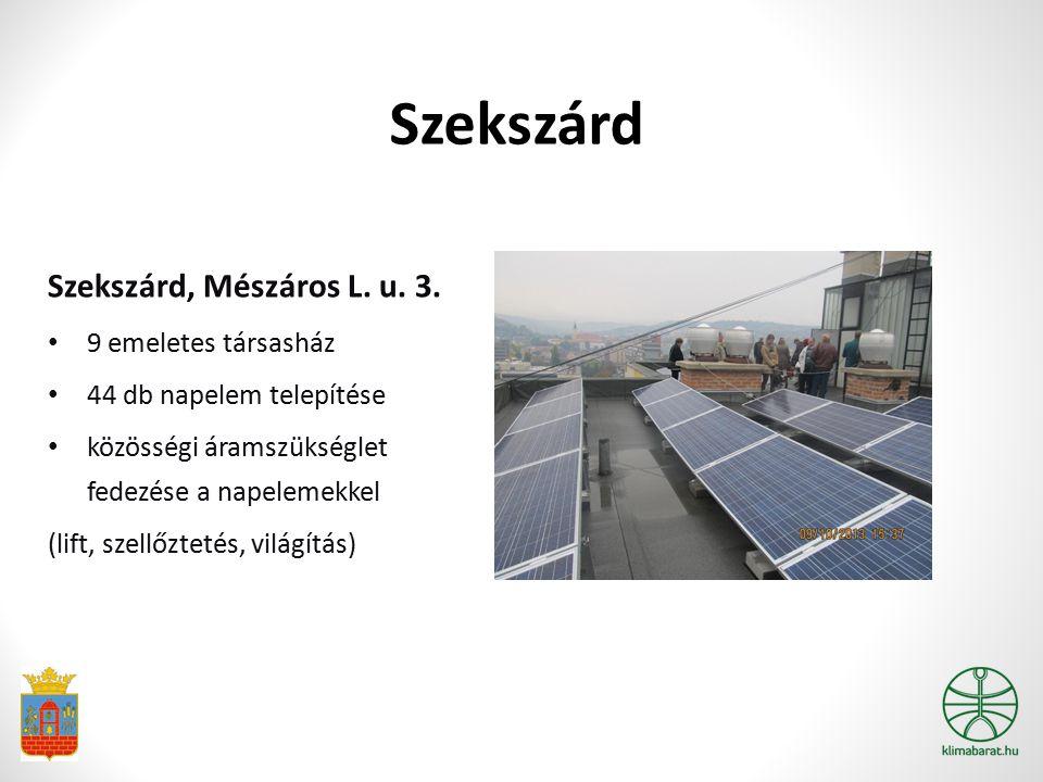 Szekszárd Szekszárd, Mészáros L. u. 3. 9 emeletes társasház