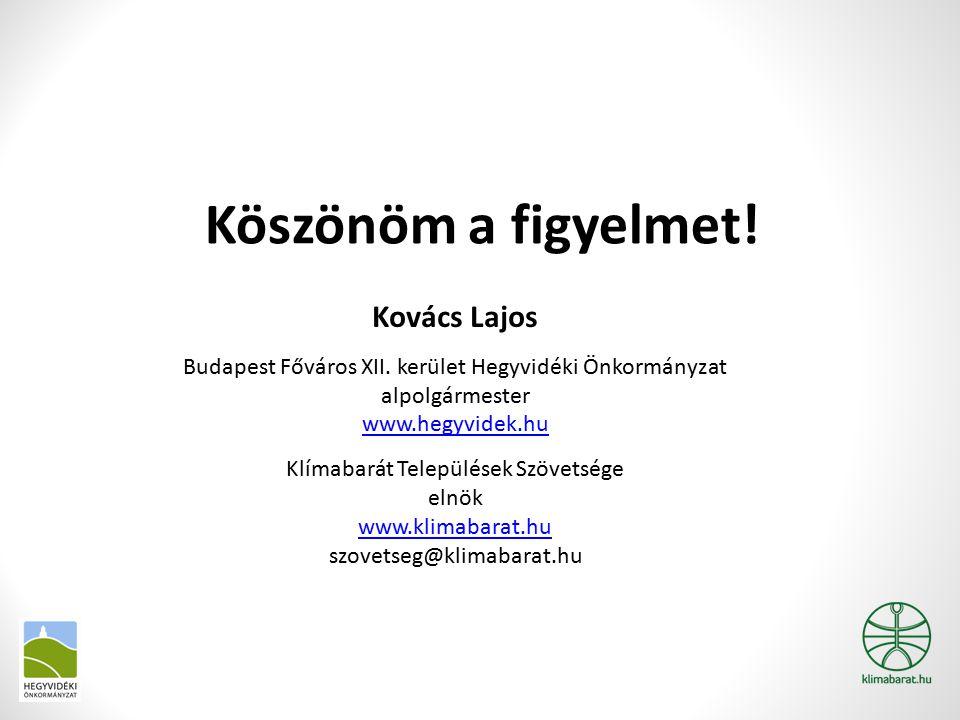 Köszönöm a figyelmet! Kovács Lajos