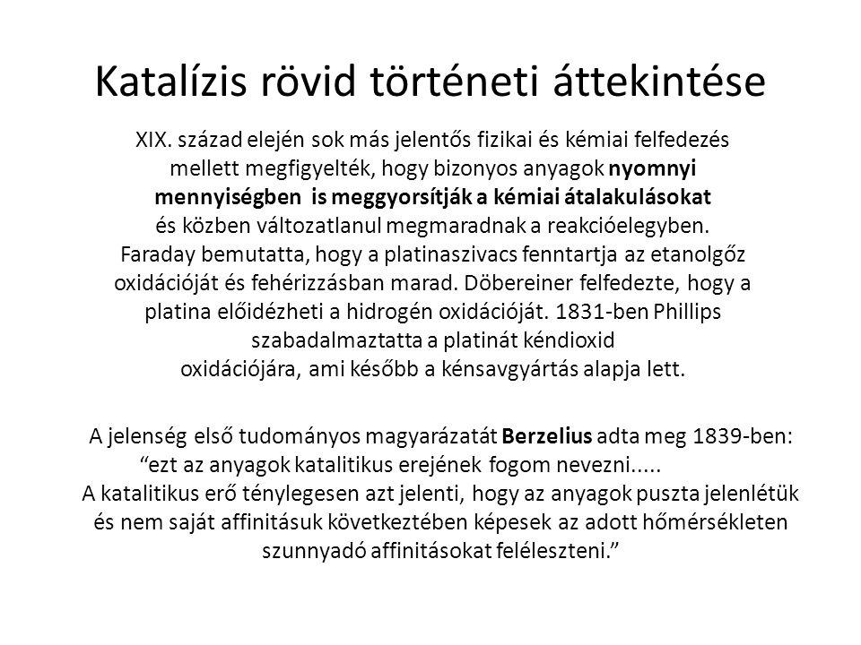 Katalízis rövid történeti áttekintése