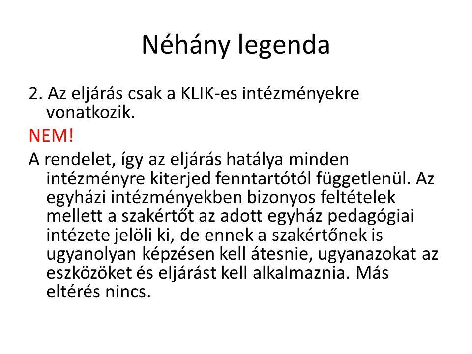 Néhány legenda