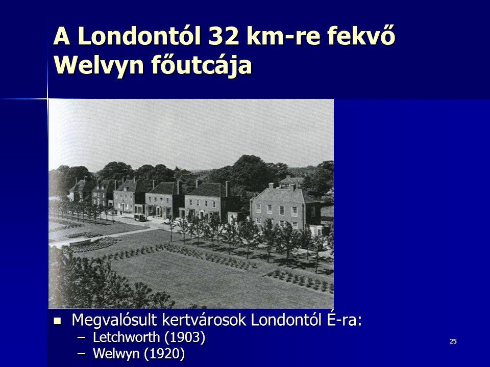 A Londontól 32 km-re fekvő Welvyn főutcája