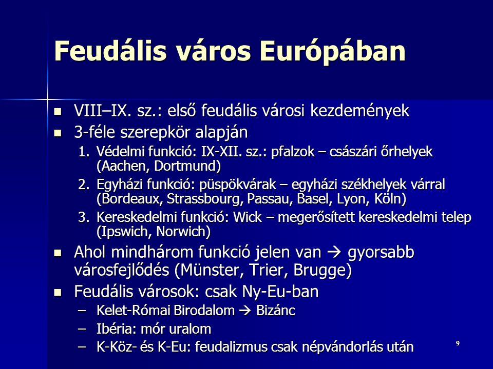 Feudális város Európában