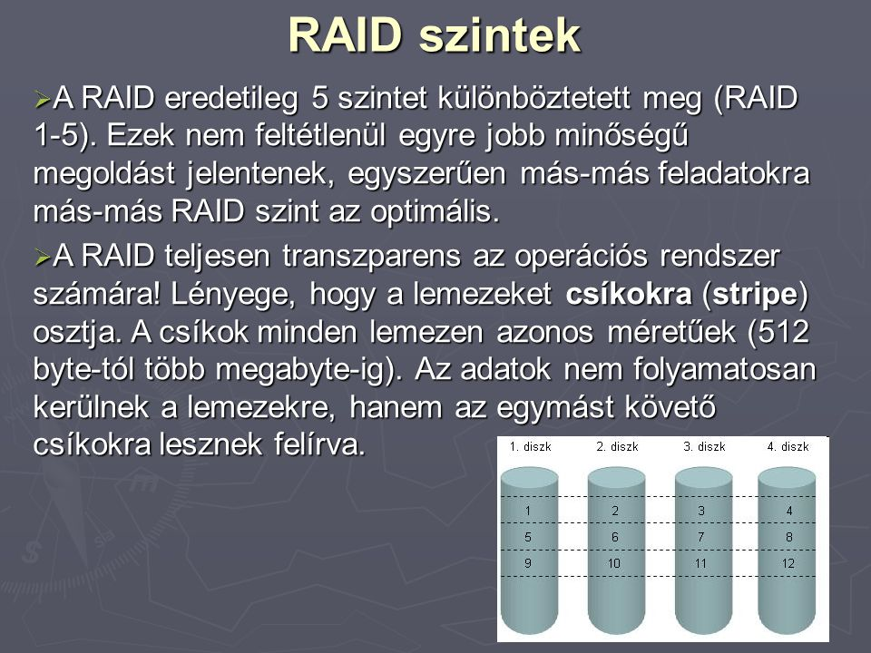 RAID szintek