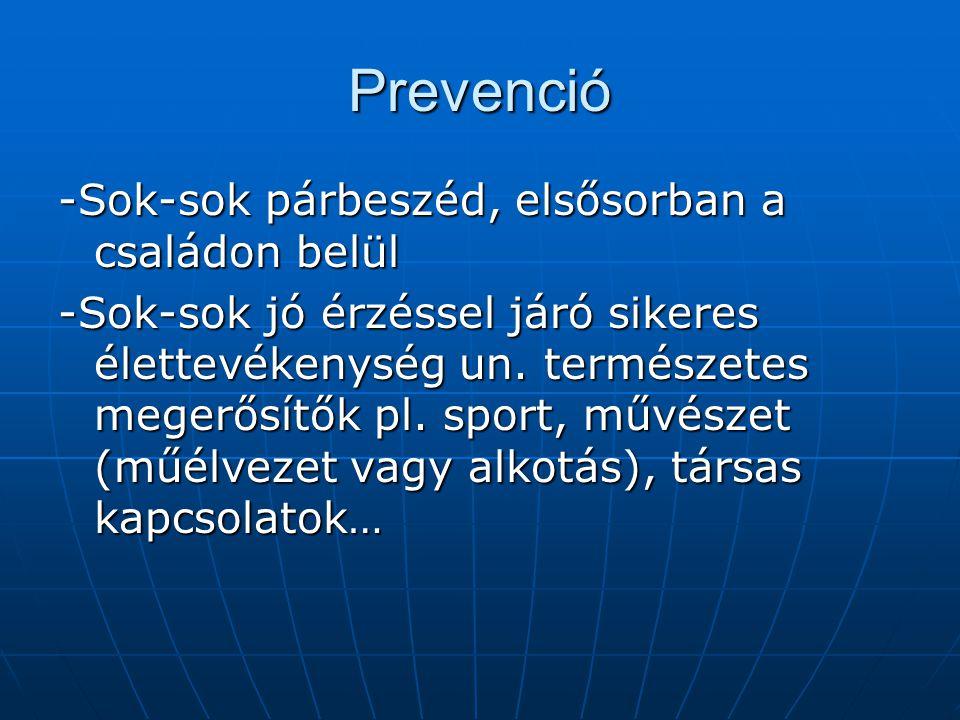 Prevenció -Sok-sok párbeszéd, elsősorban a családon belül