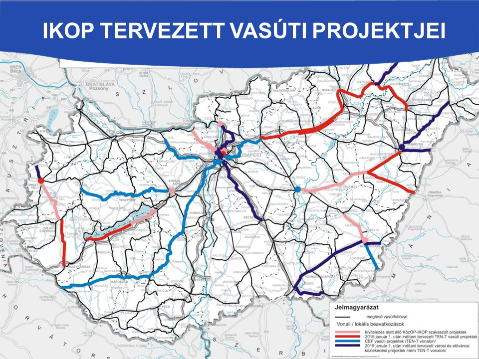 IKOP tervezett vasúti projektjei