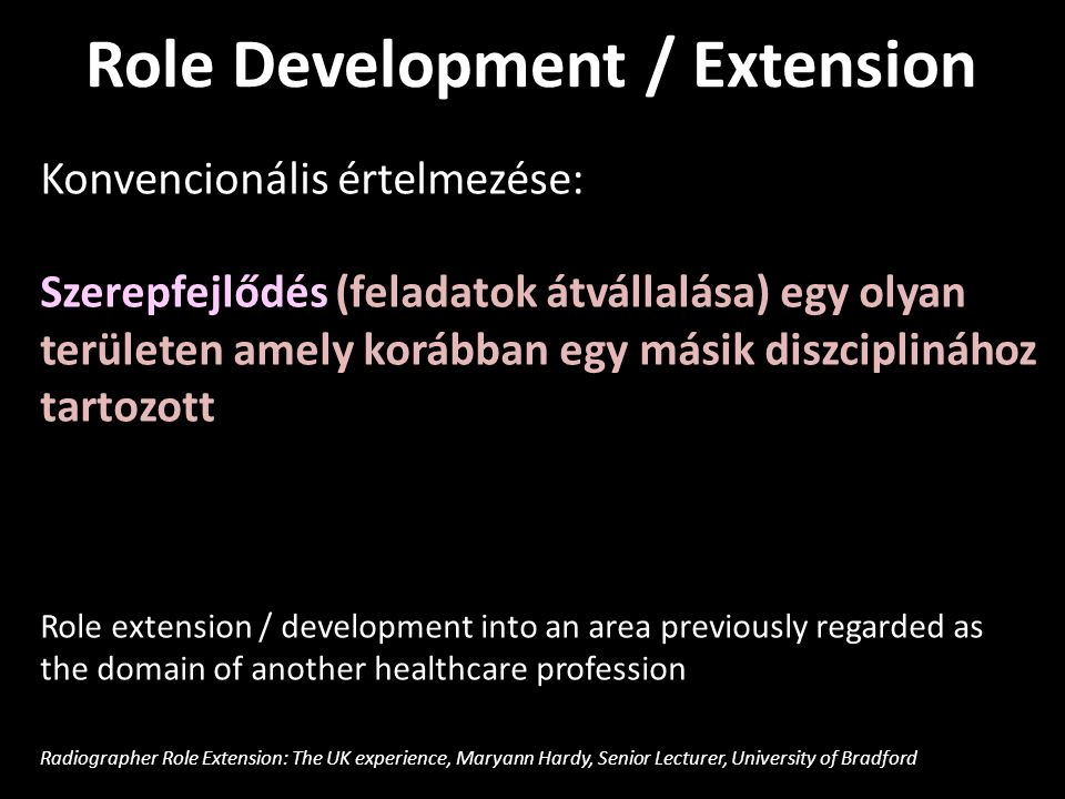 Role Development / Extension