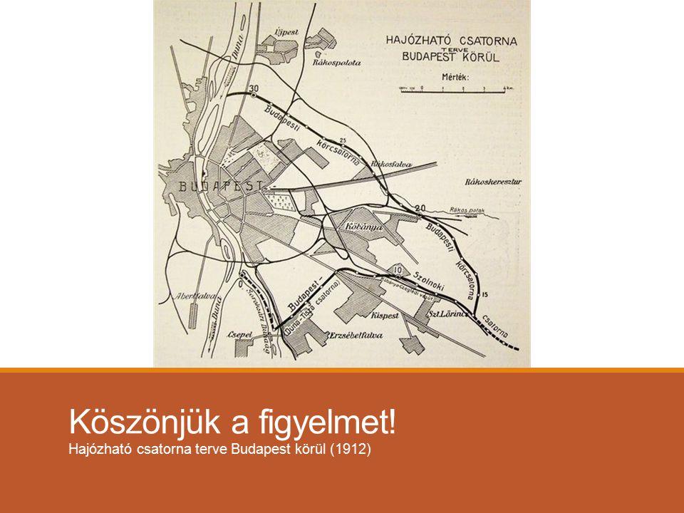 Köszönjük a figyelmet! Hajózható csatorna terve Budapest körül (1912)