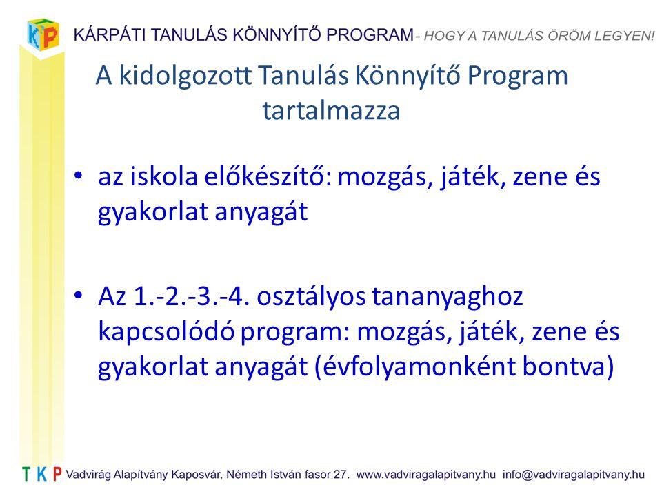 A kidolgozott Tanulás Könnyítő Program tartalmazza