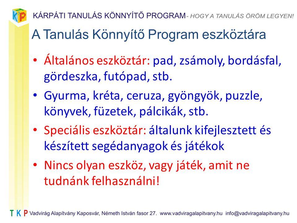 A Tanulás Könnyítő Program eszköztára