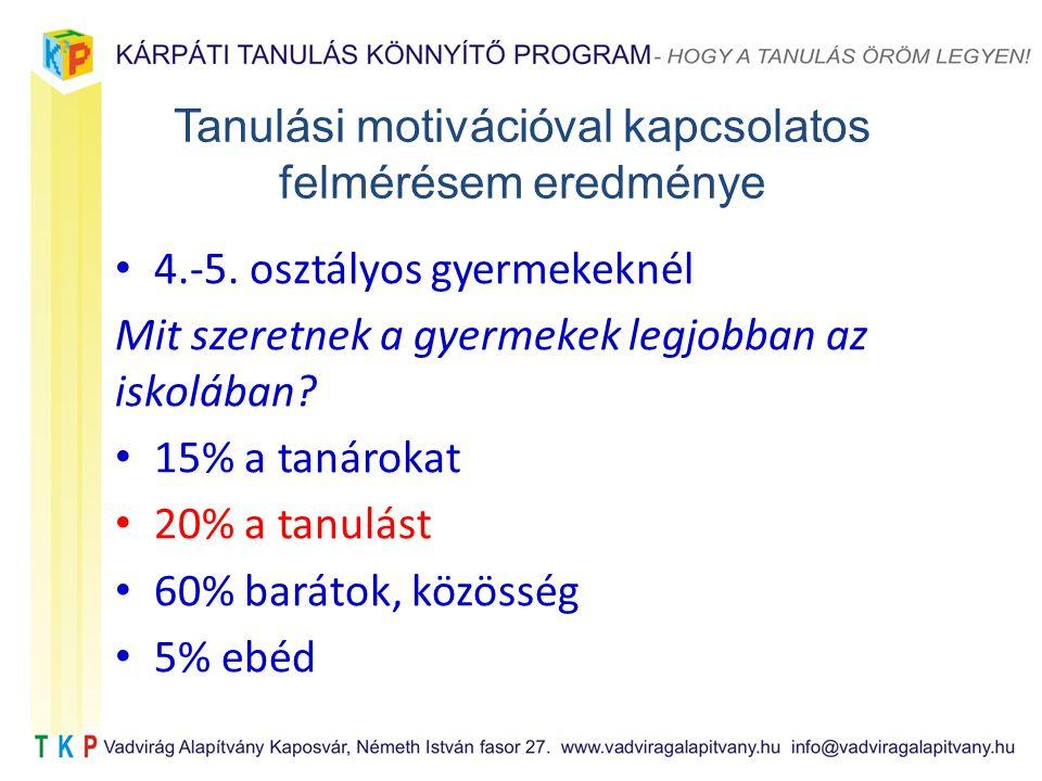 Tanulási motivációval kapcsolatos felmérésem eredménye