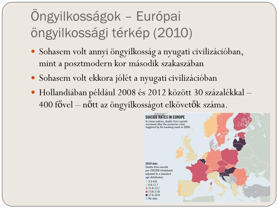 Öngyilkosságok – Európai öngyilkossági térkép (2010)