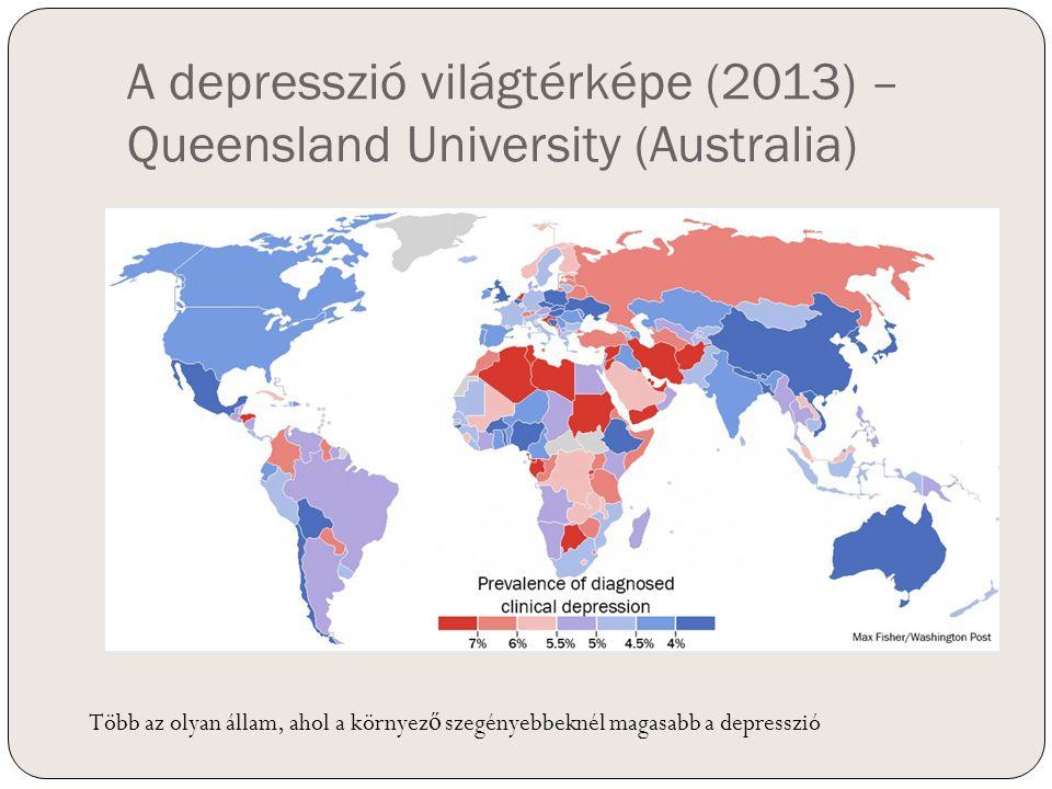 A depresszió világtérképe (2013) – Queensland University (Australia)