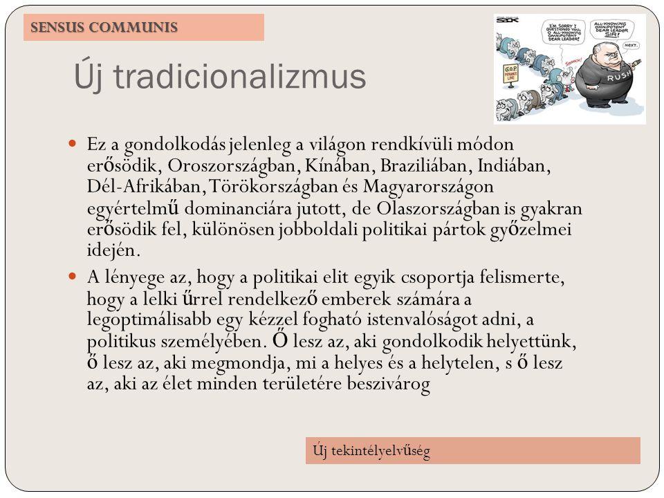 SENSUS COMMUNIS Új tradicionalizmus.