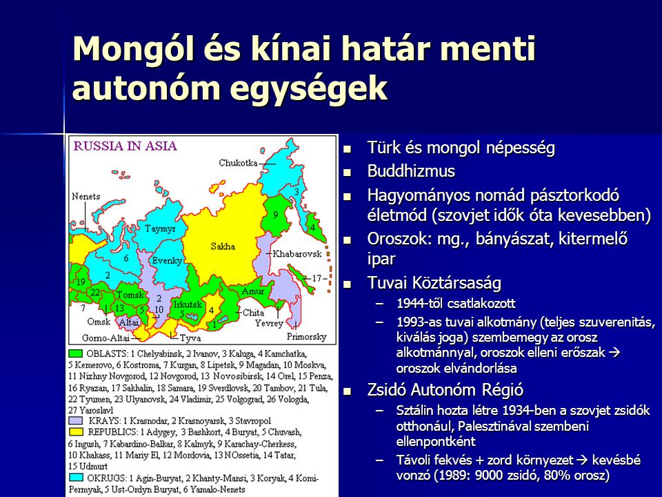 Mongól és kínai határ menti autonóm egységek