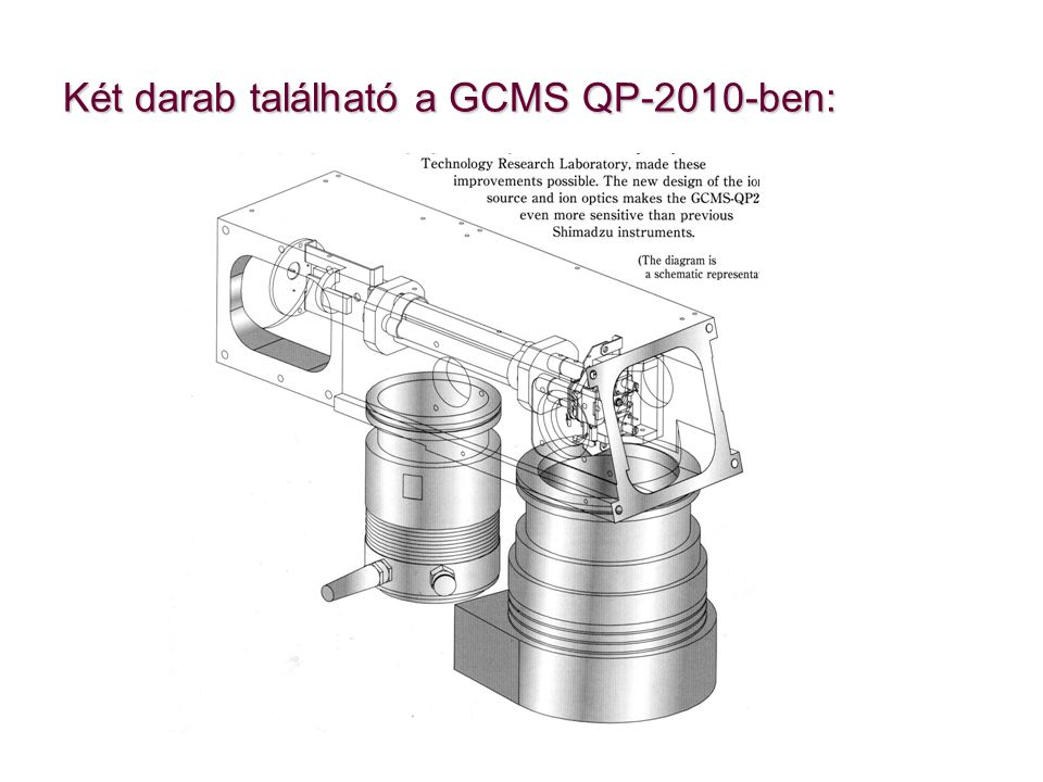 Két darab található a GCMS QP-2010-ben: