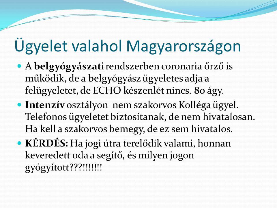 Ügyelet valahol Magyarországon