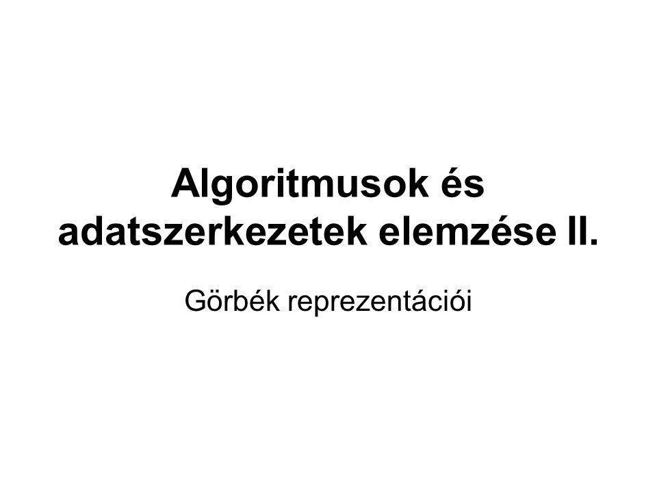 Algoritmusok és adatszerkezetek elemzése II.