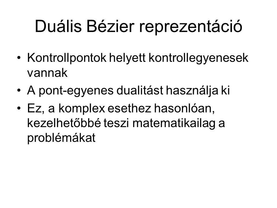 Duális Bézier reprezentáció