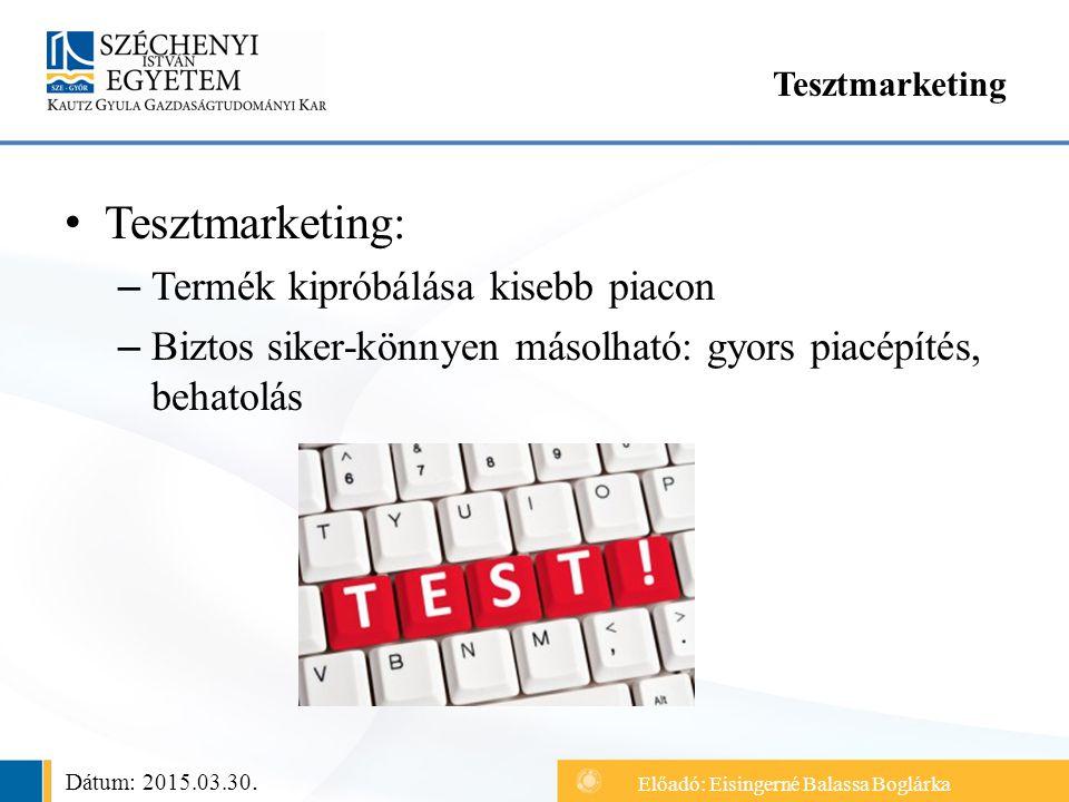 Tesztmarketing: Termék kipróbálása kisebb piacon