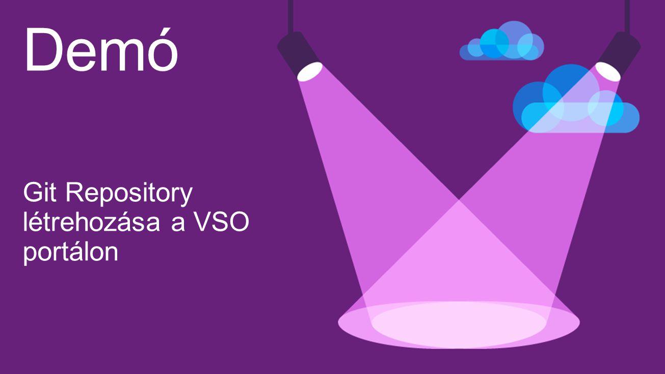 Demó Git Repository létrehozása a VSO portálon Visual Studio 4/16/2017