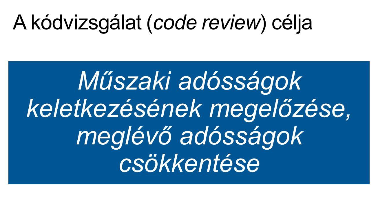 A kódvizsgálat (code review) célja
