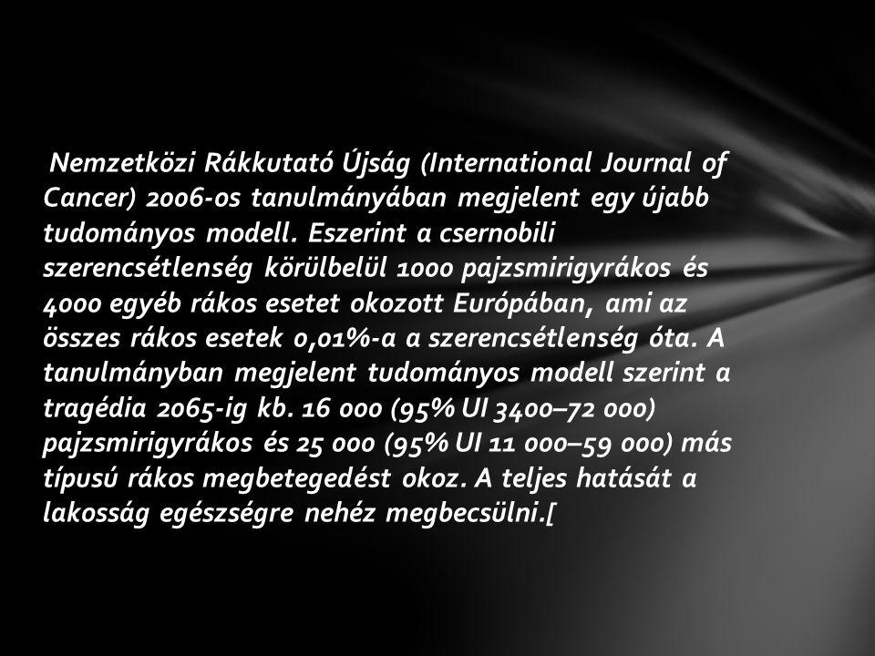 Nemzetközi Rákkutató Újság (International Journal of Cancer) 2006-os tanulmányában megjelent egy újabb tudományos modell.
