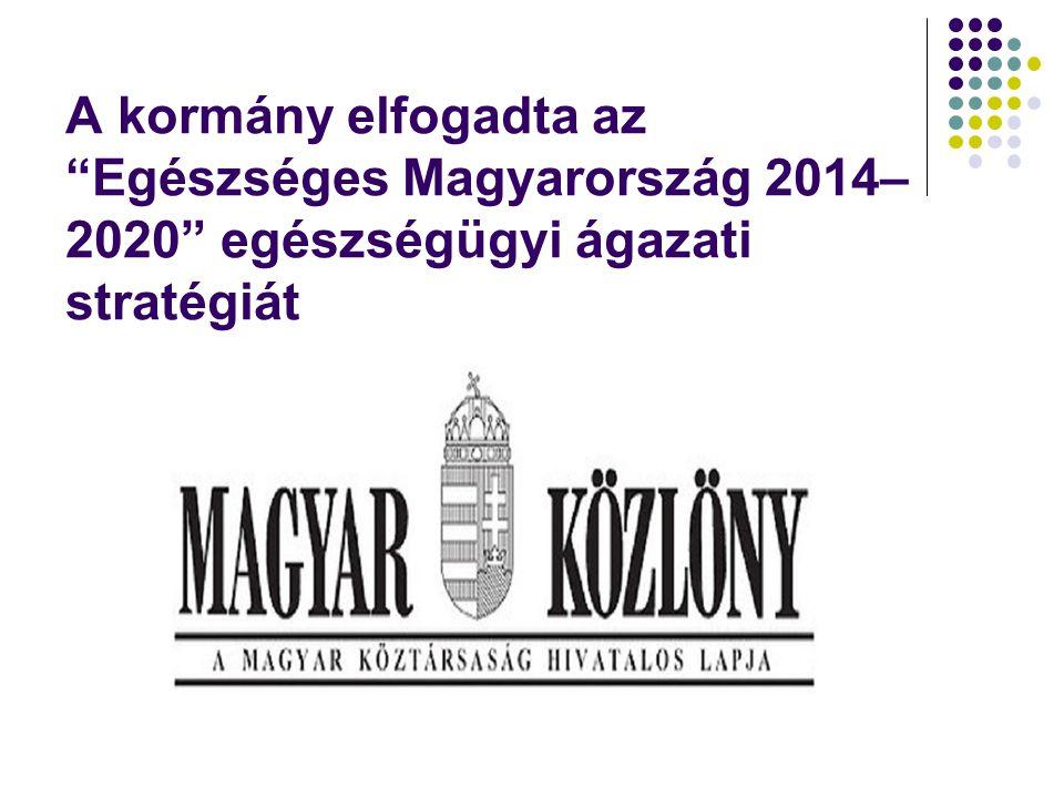 A kormány elfogadta az Egészséges Magyarország 2014–2020 egészségügyi ágazati stratégiát