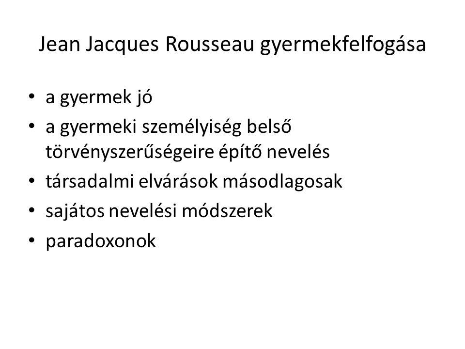 Jean Jacques Rousseau gyermekfelfogása