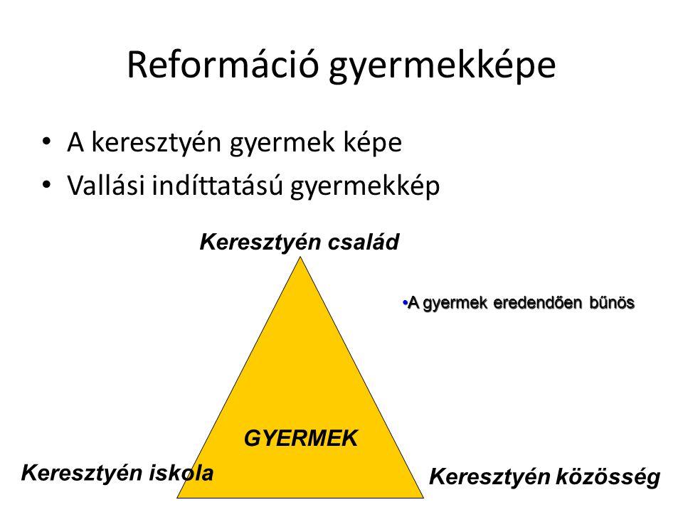 Reformáció gyermekképe