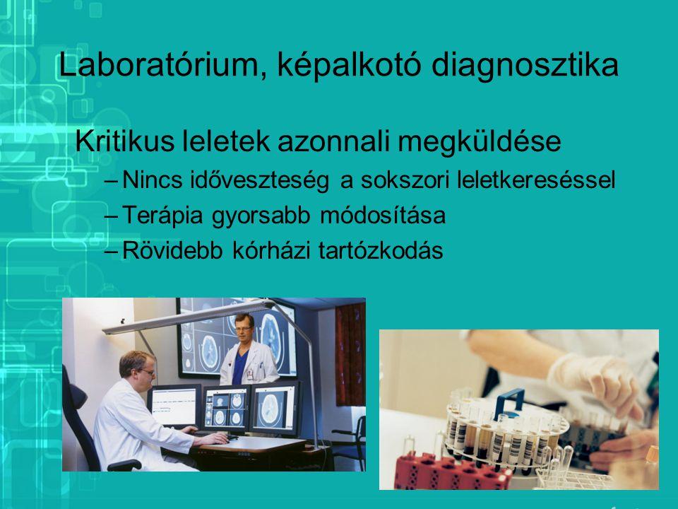 Laboratórium, képalkotó diagnosztika
