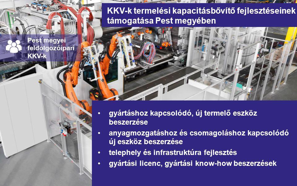 KKV-k termelési kapacitásbővítő fejlesztéseinek támogatása Pest megyében