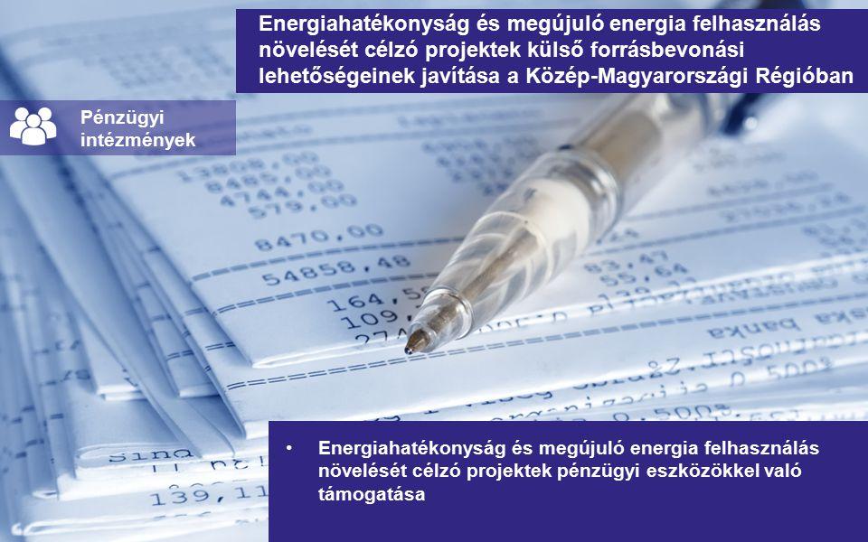 Energiahatékonyság és megújuló energia felhasználás növelését célzó projektek külső forrásbevonási lehetőségeinek javítása a Közép-Magyarországi Régióban