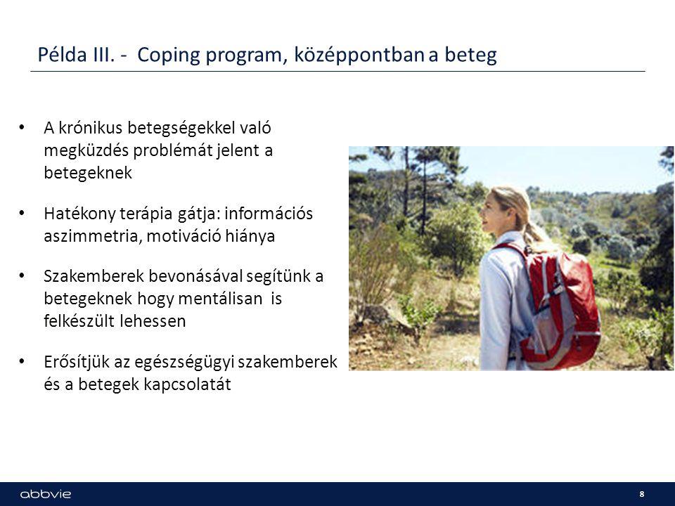 Példa III. - Coping program, középpontban a beteg