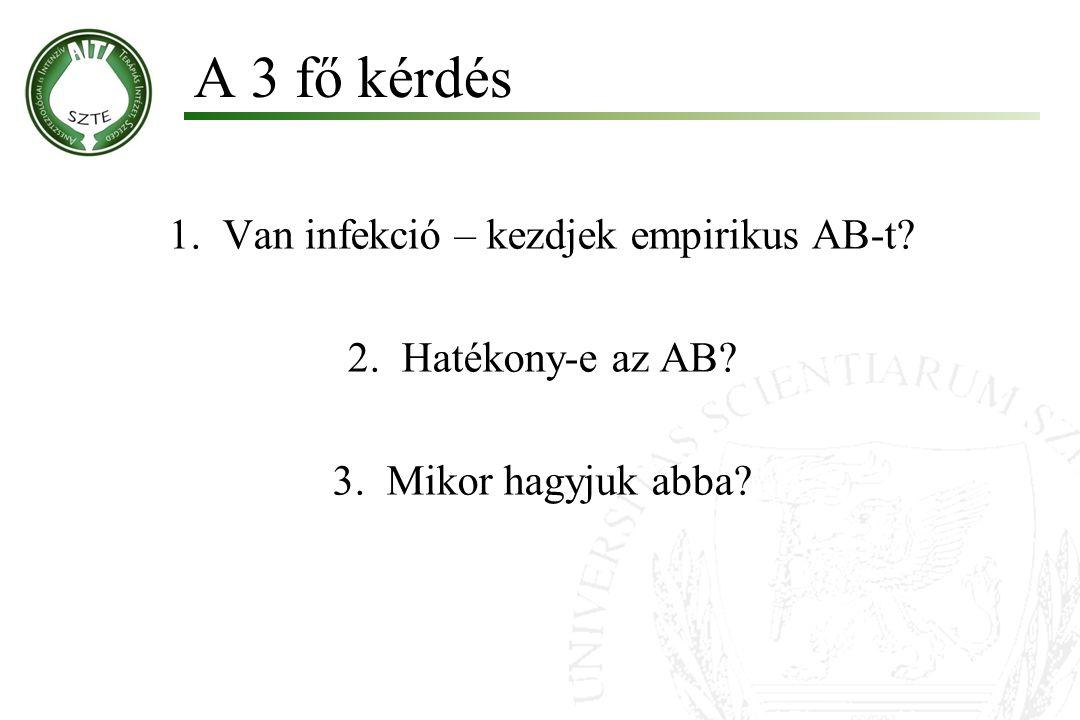 Van infekció – kezdjek empirikus AB-t