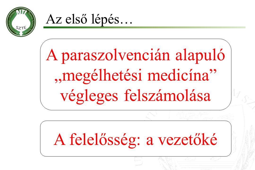 """A paraszolvencián alapuló """"megélhetési medicína végleges felszámolása"""