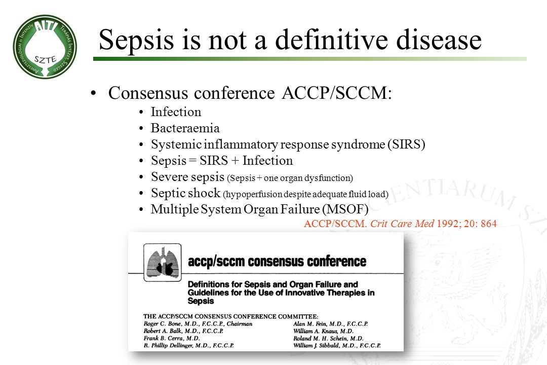 Sepsis is not a definitive disease
