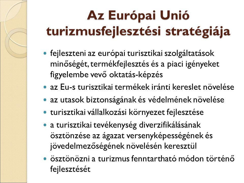 Az Európai Unió turizmusfejlesztési stratégiája
