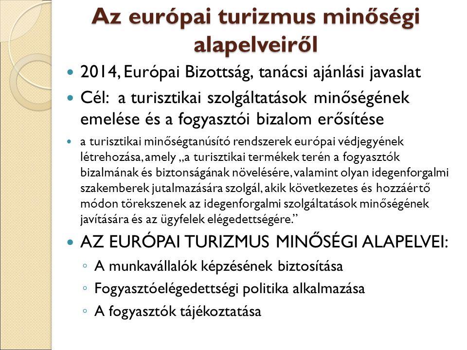 Az európai turizmus minőségi alapelveiről