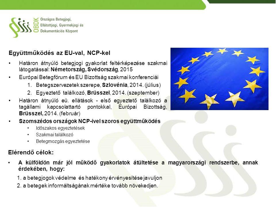 Együttműködés az EU-val, NCP-kel