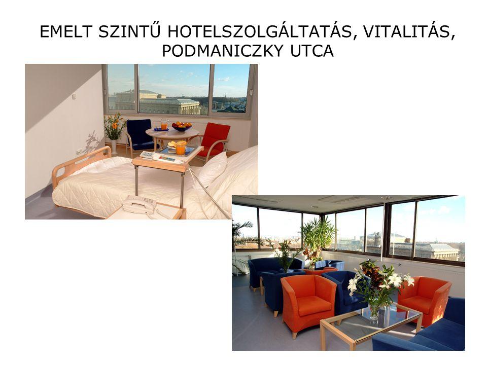 EMELT SZINTŰ HOTELSZOLGÁLTATÁS, VITALITÁS, PODMANICZKY UTCA