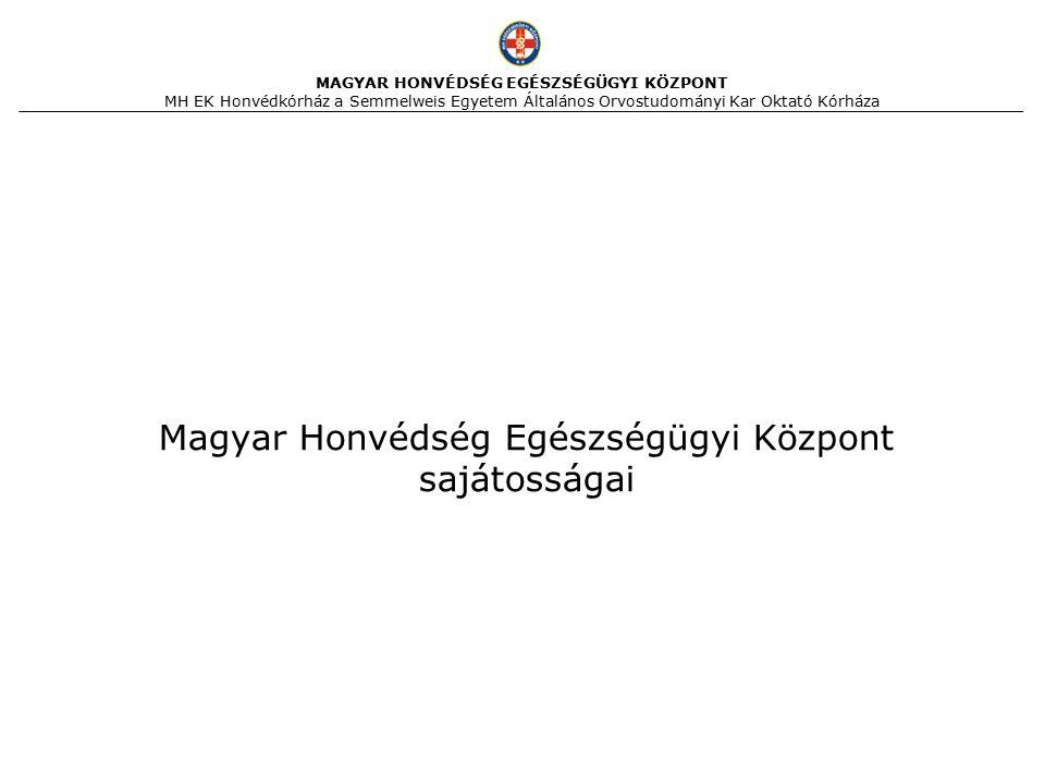 Magyar Honvédség Egészségügyi Központ sajátosságai