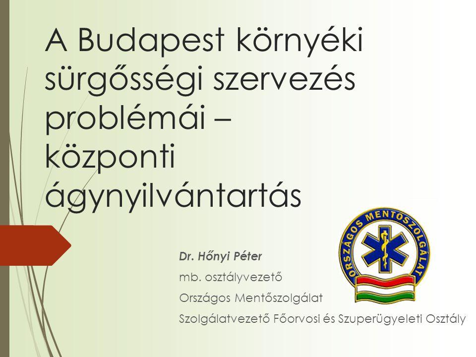 A Budapest környéki sürgősségi szervezés problémái – központi ágynyilvántartás