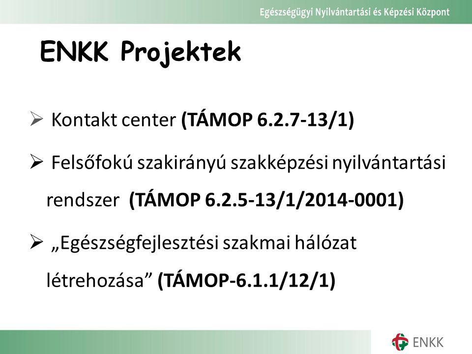 ENKK Projektek Kontakt center (TÁMOP 6.2.7-13/1)