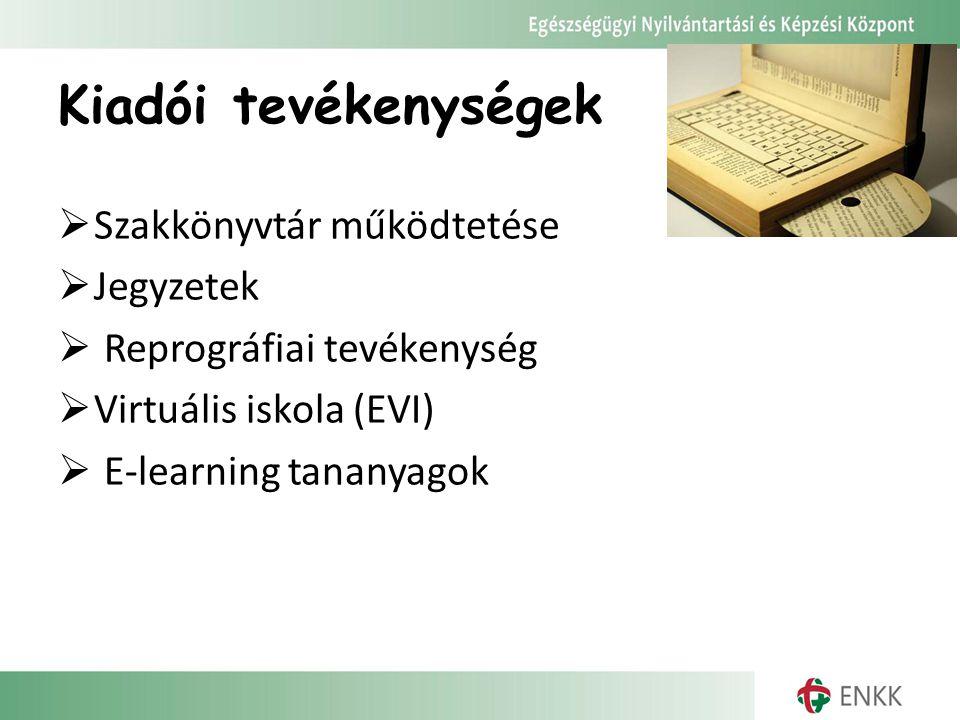 Kiadói tevékenységek Szakkönyvtár működtetése Jegyzetek