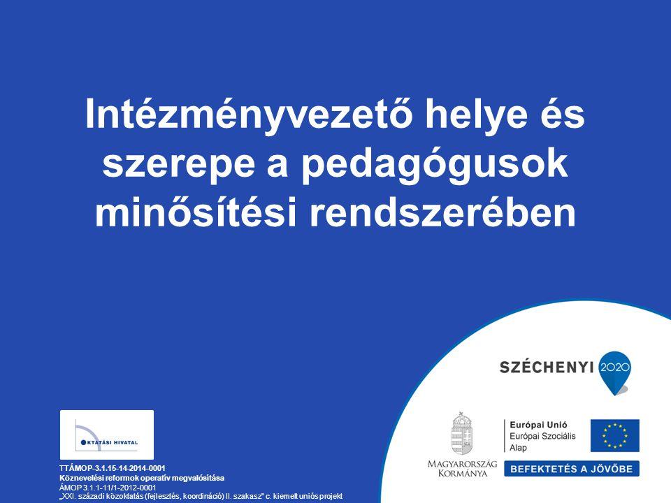 Intézményvezető helye és szerepe a pedagógusok minősítési rendszerében
