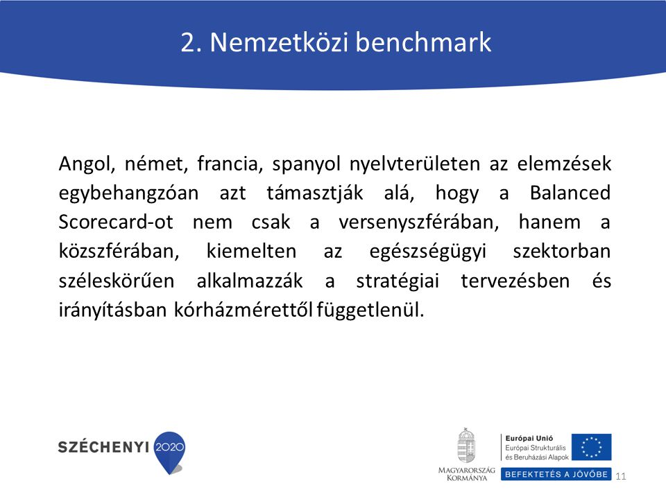2. Nemzetközi benchmark