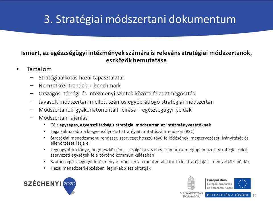 3. Stratégiai módszertani dokumentum